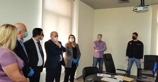 محاكمة جزائية لأول مرة عن بعد في غرفة التحقيق الإلكتروني في قصر عدل طرابلس